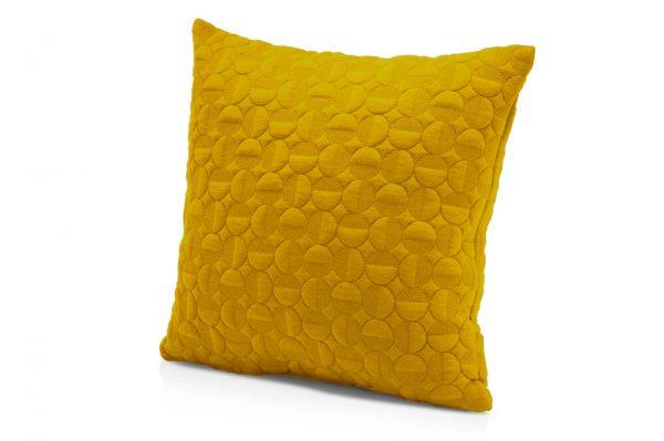 کوسن طرح دایره رنگ زرد سایز 45.45