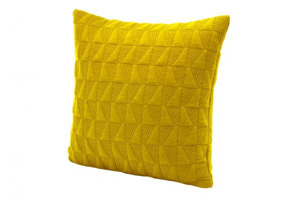 کوسن طرح مربع رنگ زرد سایز 45.45 تحویل یک هفته